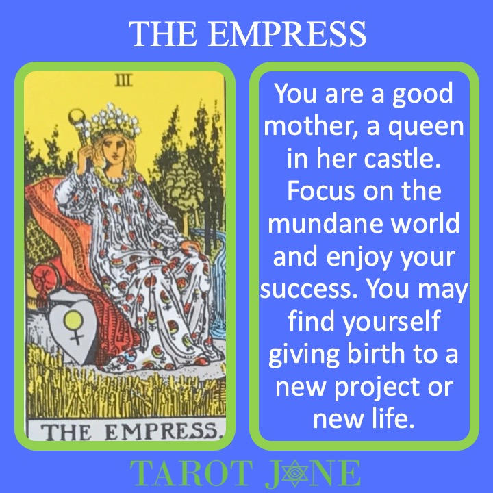 The 4th RWS Major Arcana Tarot Card shows a pregnant Empress surrounded by fertility symbols upon her throne and indicated new life.