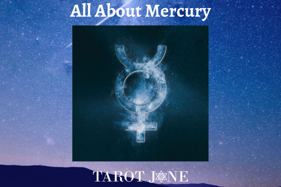 Mercury's symbol consists of the Venus symbol with horns indicating its ability to go between the masculine and feminine.