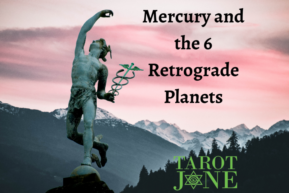 A statue of Mercury throwing something behind him.