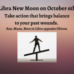 A figure works to maintain their balance showing the difficult balance required during the Libra New Moon.